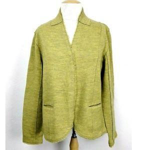Eileen Fisher Heathered Green Merino Wool Jacket